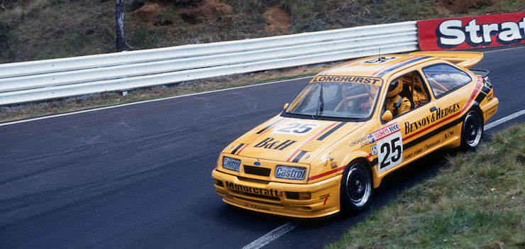 Ex-Longhurst 1990 Benson & Hedges Ford Sierra RS500 Joins Record Phillip Island Classic Field