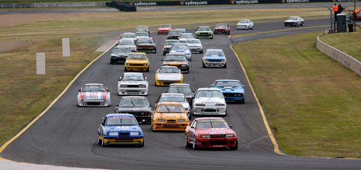 Mighty Heritage Touring Cars Grid Set for a Magic Muscle Car Masters