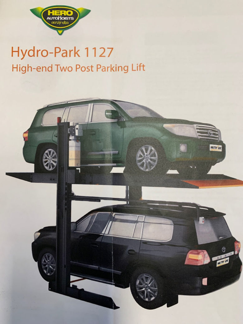 For Sale: Hydro-Park 1127 High-End Two Post Parking Lift